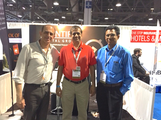 Sharad Patel and Dharmendra Patel visit Scientific Capital at the AAHOA 2015 Long Beach trade show