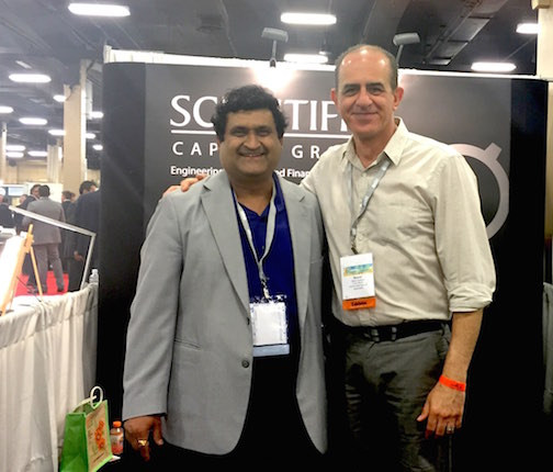 Vipul Shah visiting Scientific Capital at AAHOA 2016 in Nashville