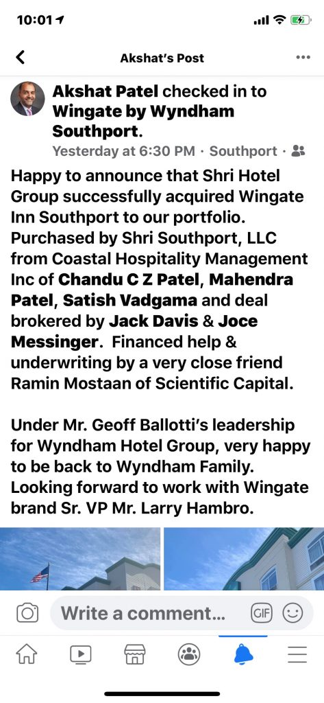 Announcement for the closing of Wingate by Akshat